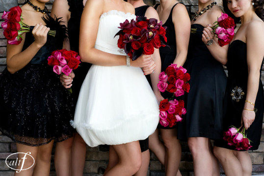 Vibrant & bright bridal party bouquets.