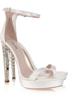 MUI MUI Wedding Shoes - Even the inside of the heels are just beautiful!