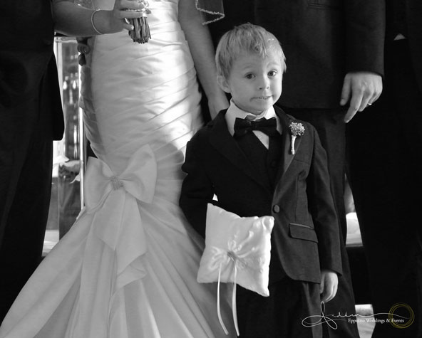 Adorable! Rebecca's nephew served as the Ring Bearer!