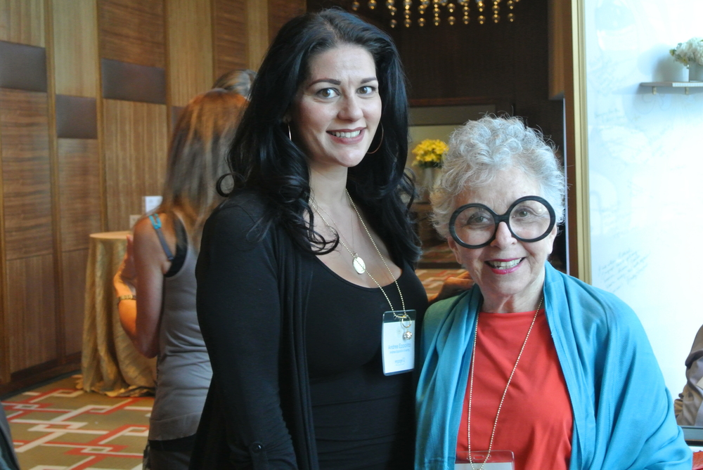 Yes, that's me and Sylvia Weinstock. She is a force of nature!