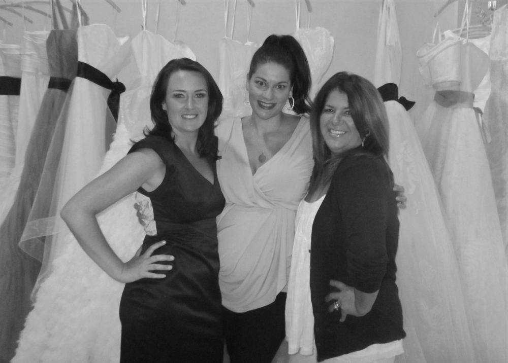 How I love these girls! Dawn & Annette not only make my brides look amazing, but once upon a time they even spent the day pulling the perfect dress for me! And they love my mom!
