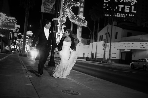 Talk about running away to Vegas! This is how you elope in style.  Photo by www.altf.com.