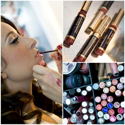 Your Beauty Call came in with cases full of makeup! They styled Laura with a glam, retro feel!