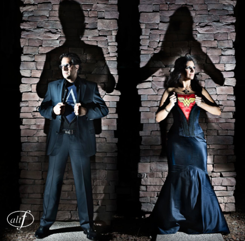 A Superhero Wedding - The bride and groom were inspired by their comic book alter egos. Photo by www.altf.com.