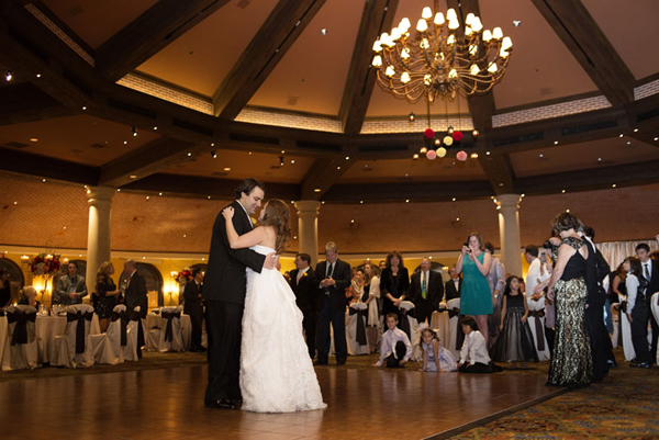 Ann & Andre's first dance in the Valencia Ballroom of the JW Marriott.  Wedding Photo by www.altf.com.