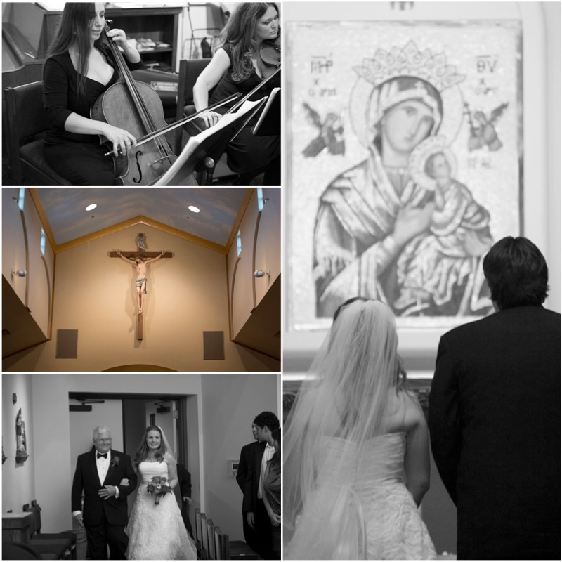 Ann & Andre's Catholic wedding ceremony was held at St Elizabeth Ann Seton.  Photo by www.altf.com.