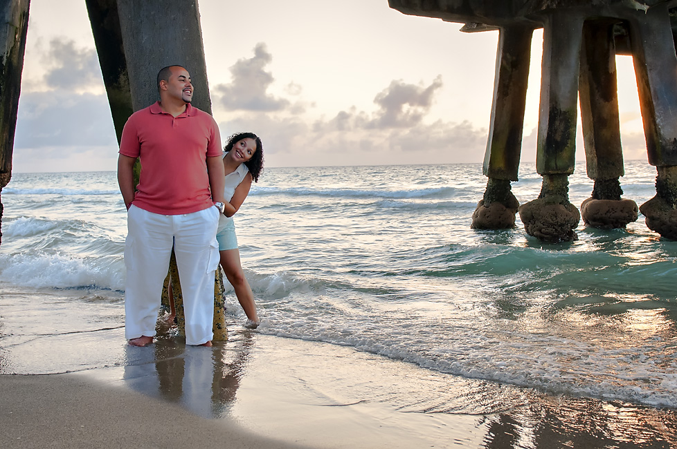 They have such a playful energy about them!  Engagement Photos by the beach in Florida.