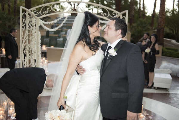 When your wedding planner gets married...Tony and I at our Four Seasons Wedding.
