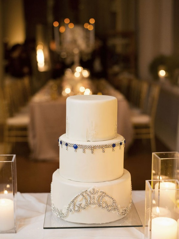 Our simple yet stunning wedding cake by Four Seasons Las Vegas.