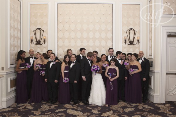 The big bridal party at Bellagio Las Vegas.