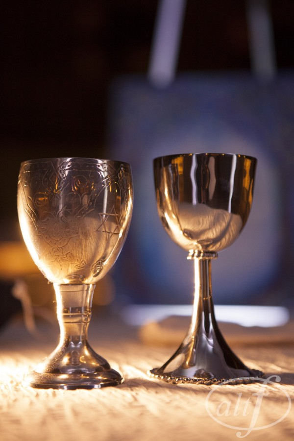 Kiddush Cups for the blessing of the wine.