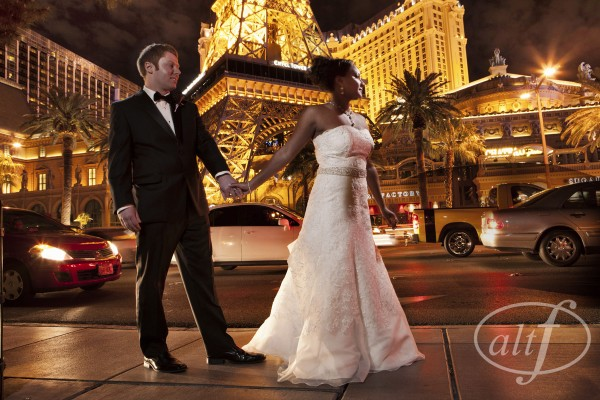Wedding Photos on the Las Vegas Strip - Always dramatic.