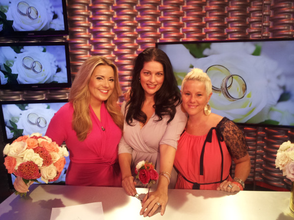 With my girl Rachel, host of More Fox 5, and Randi of Naaktiti Floral.   Today's topic, floral trends for weddings.