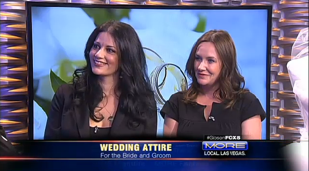 With Dawn from Couture Bride Las Vegas - Discussing wedding gown trends on MORE Fox 5.