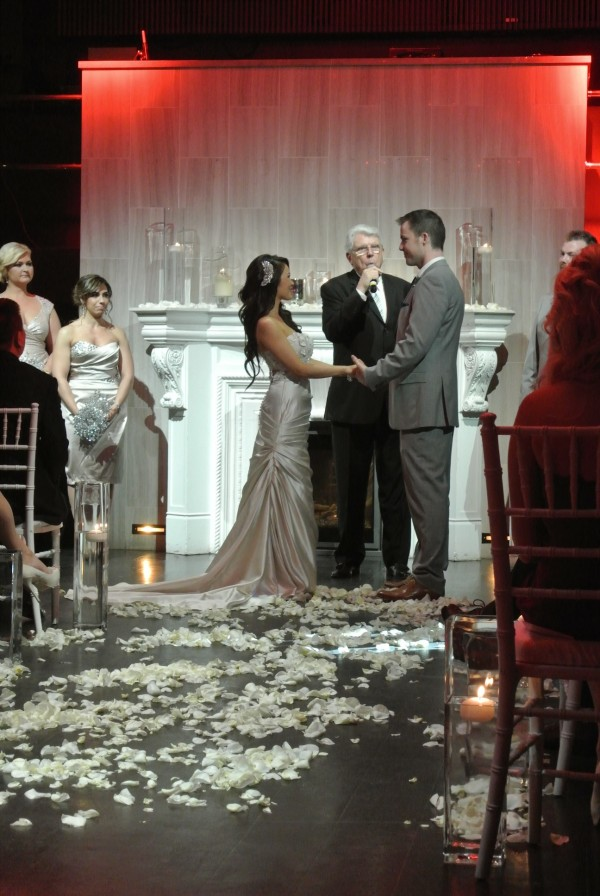 My-Lee & James wedding ceremony inside Chateau. Photo by Andrea Eppolito.