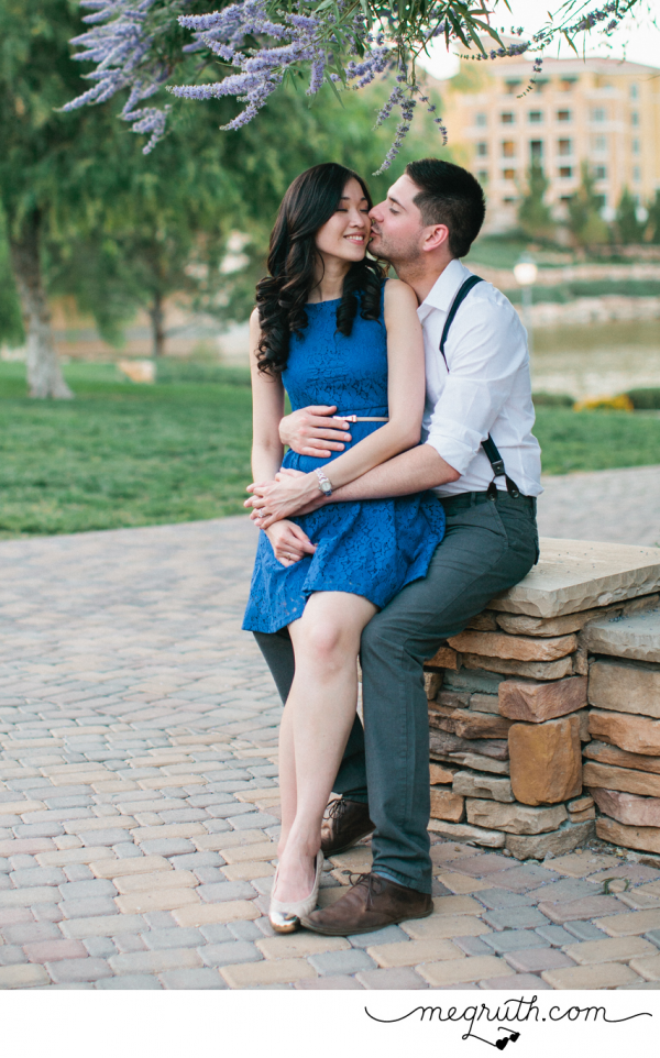 Lake Las Vegas Engagement Photo