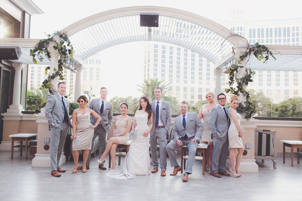 Bridal Party at Chateau Nightclub & Gardens. Photo by Adam Trujillo.