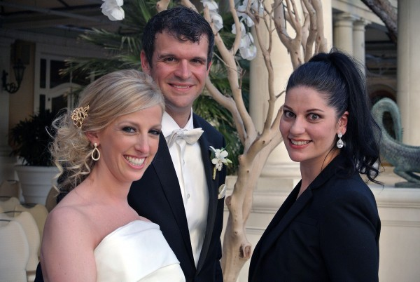 Sharing a moment with Marci and Mike…Otherwise known as the new Dr. & Dr. Pugnale! Photo by Andrea Eppolito Events.