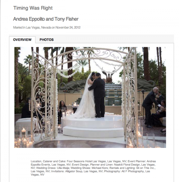 Our Wedding has been featured on Grace Ormonde Wedding Style Magazine!