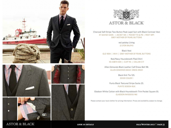 Astor & Black – Custom Clothier for the Gentleman in your life.