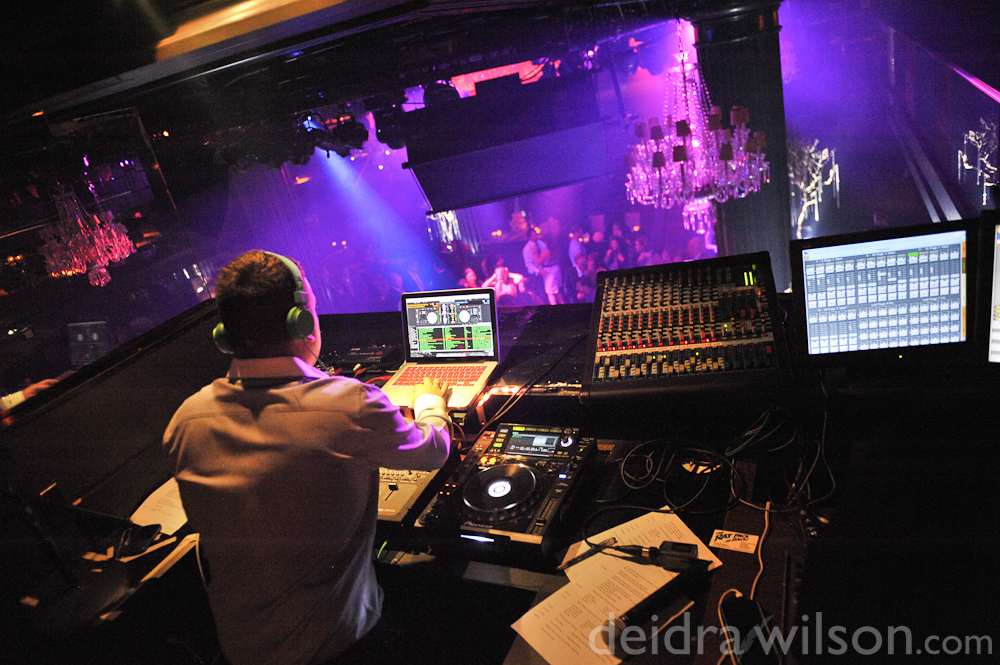 DJ Twisted (otherwise known as Baby J) at Body English at the Hard Rock Hotel Las Vegas.