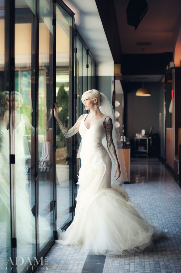 Sabina Kelley at Hyde Bellagio - Looking stunning in Vera Wang.