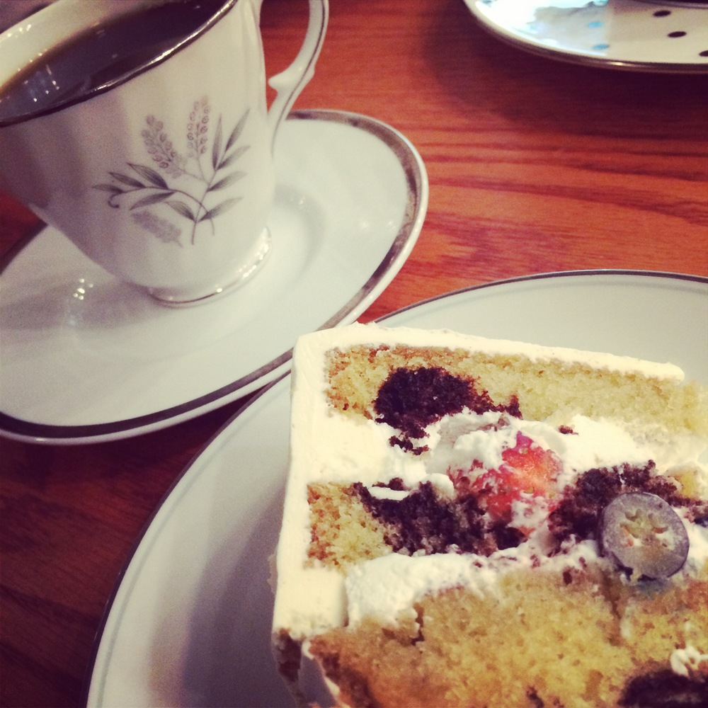 Cake & Coffee at Peridot Sweets.
