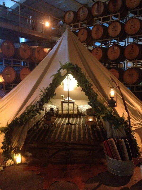 This well dressed tent makes an excellent bridal suite. Photo courtesy of Shelter-co.com.
