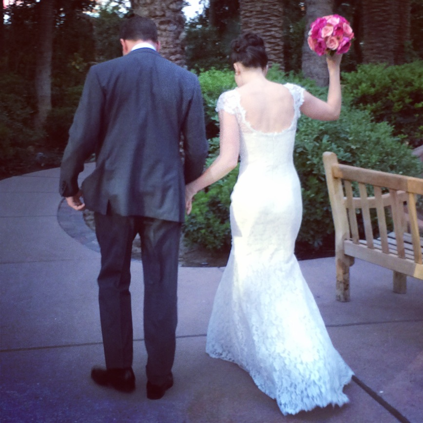 Congratulations to Mr. & Mrs. Lindsey Green and Lockhart Steele!  Photo Courtesy of  Andrea Eppolito's Instagram .