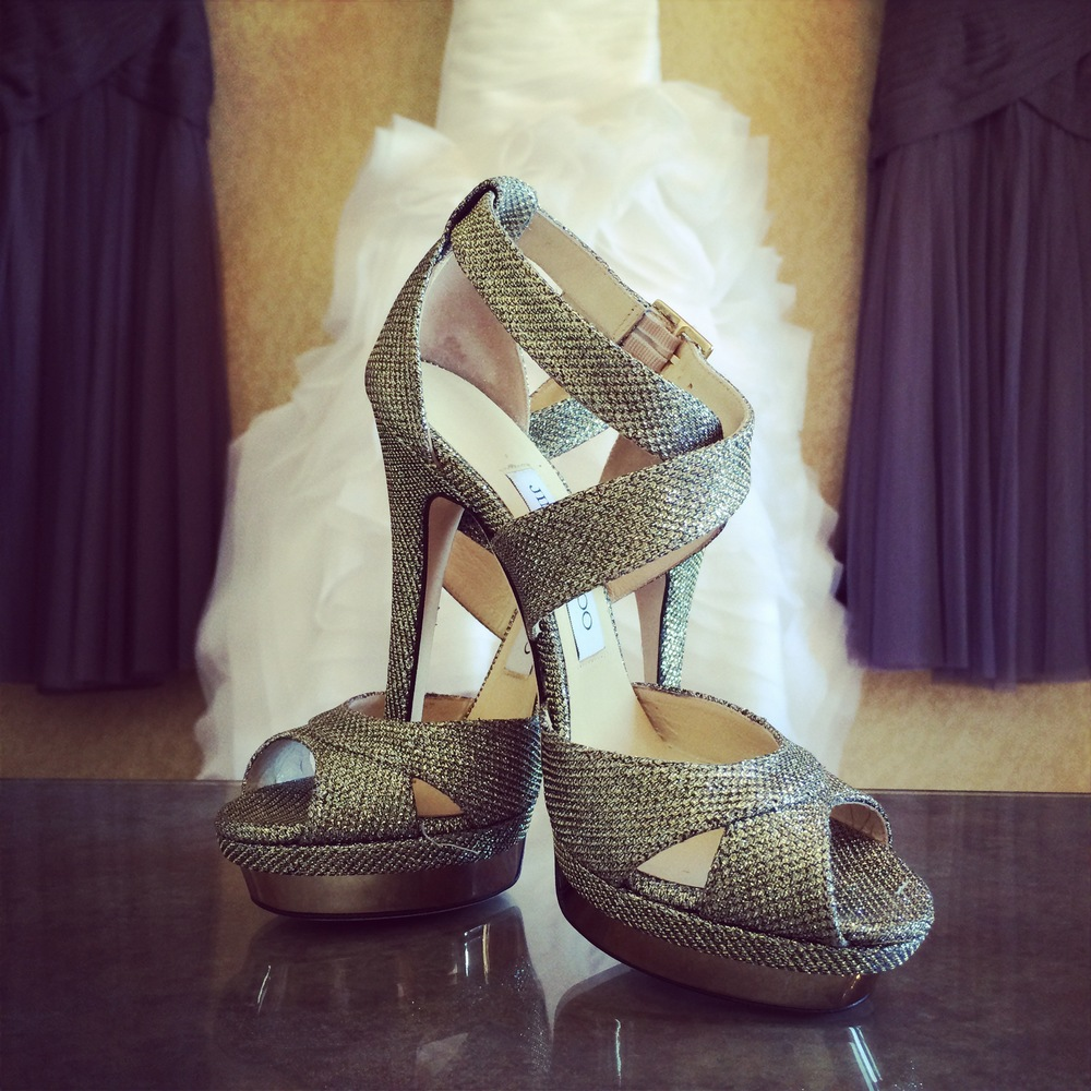 Bridal Shoes by Jimmy Choo.