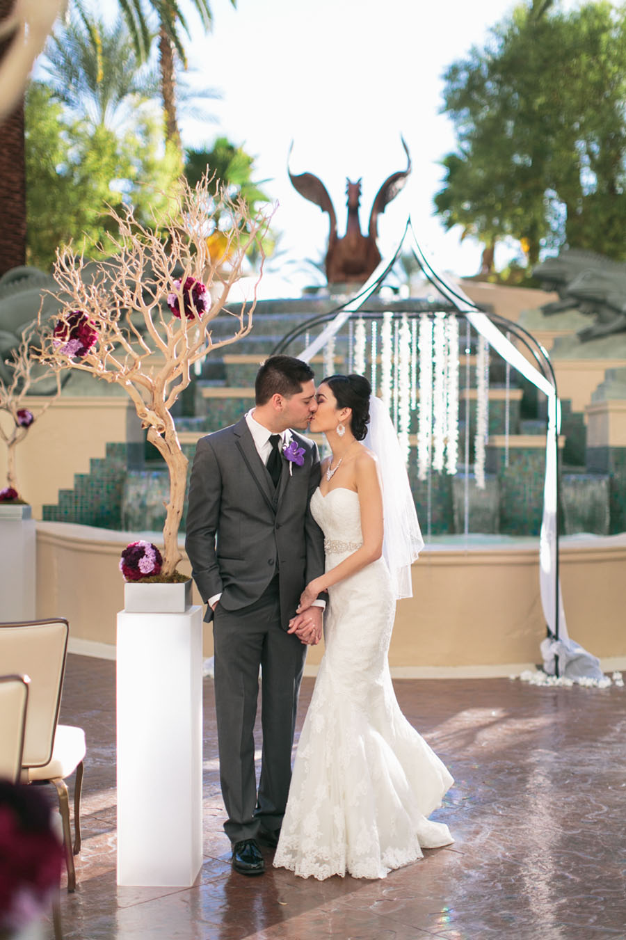 Katherine & Jared - Wedding at the Four Seasons Las Vegas.   Las Vegas Wedding Planner Andrea Eppolito.  Photography by Meg Ruth.  Floral and Decor by Naakiti Floral.