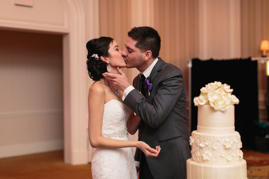 Kisses and Cake.  Katherine & Jared - Wedding at the Acacia Ballroom at the Four Seasons Las Vegas.     Las Vegas Wedding Planner  Andrea Eppolito .  Wedding at  Four Seasons .  Photography by  Meg Ruth .  Floral and Decor by  Naakiti Floral .
