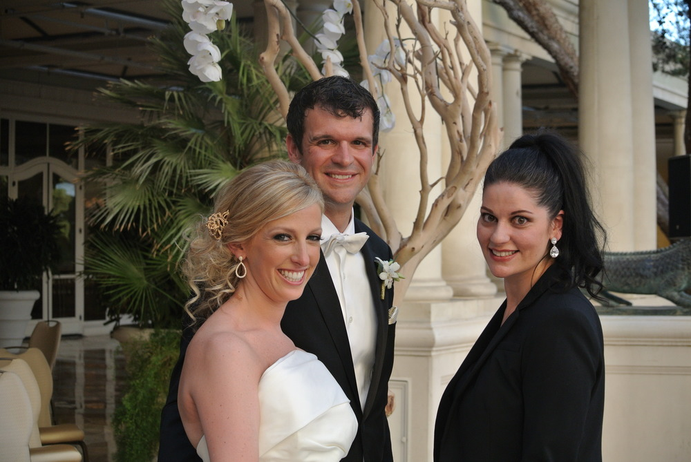 Las Vegas Wedding Planner Andrea Eppolito with Marci and Mike at their Bellagio Wedding.