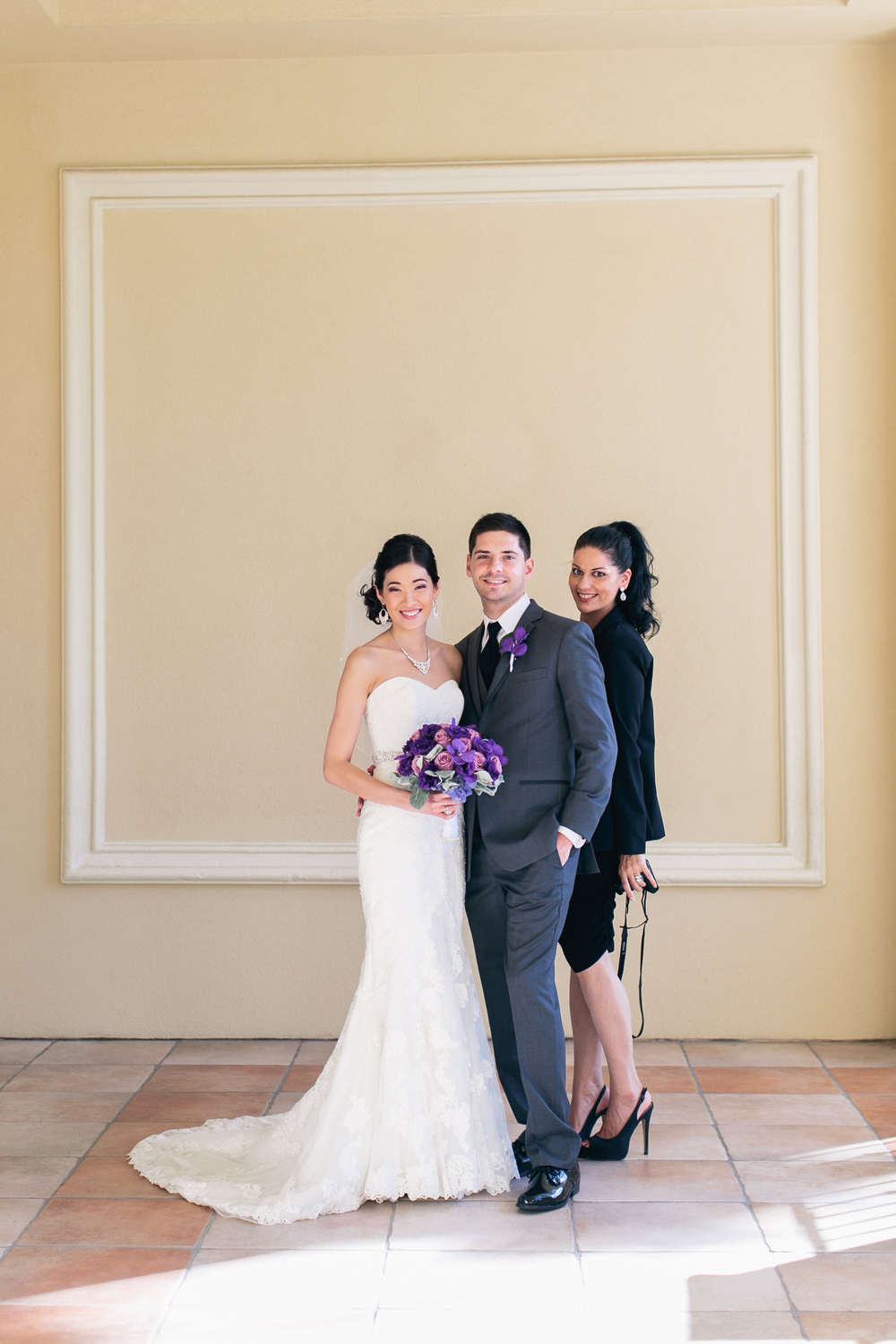 Las Vegas Wedding Planner Andrea Eppolito with Katherine and Jared at their Wedding at the Four Seasons Las Vegas.  Photo by MegRuth.com.
