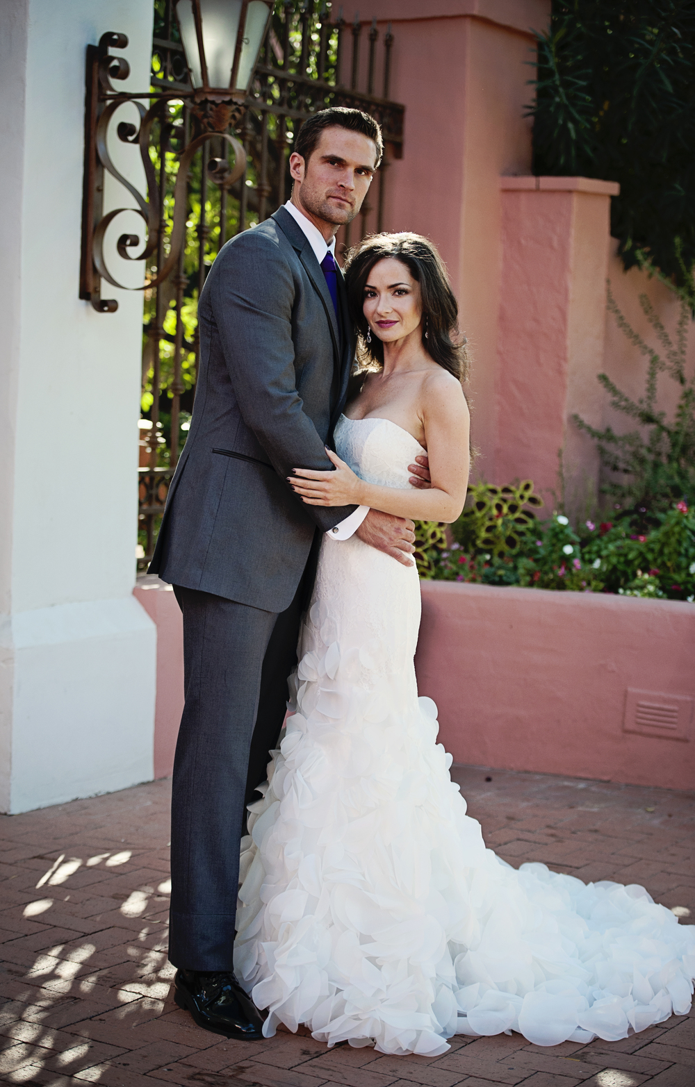 First Look Wedding Photos.    Destination Wedding Planner:   Andrea Eppolito Events   |  Historical Wedding Venue:   The Arizona Inn   |  Photography:  Raylene Streuber