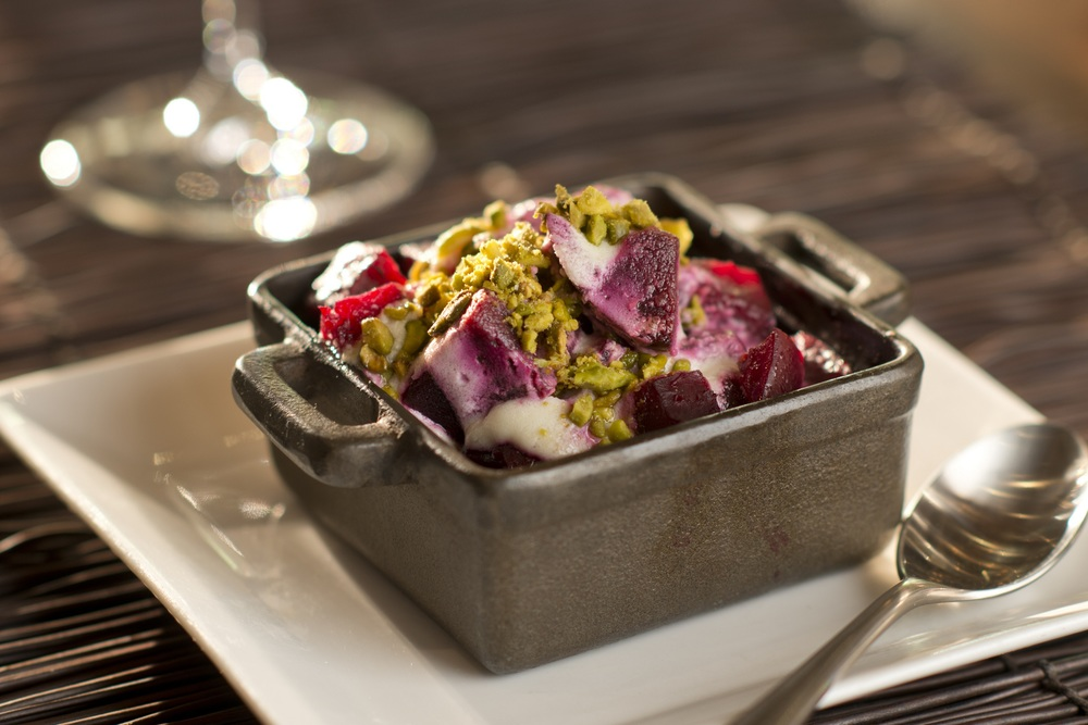 Warm Salt Roasted Beets.  Photo courtesy of La Cave.