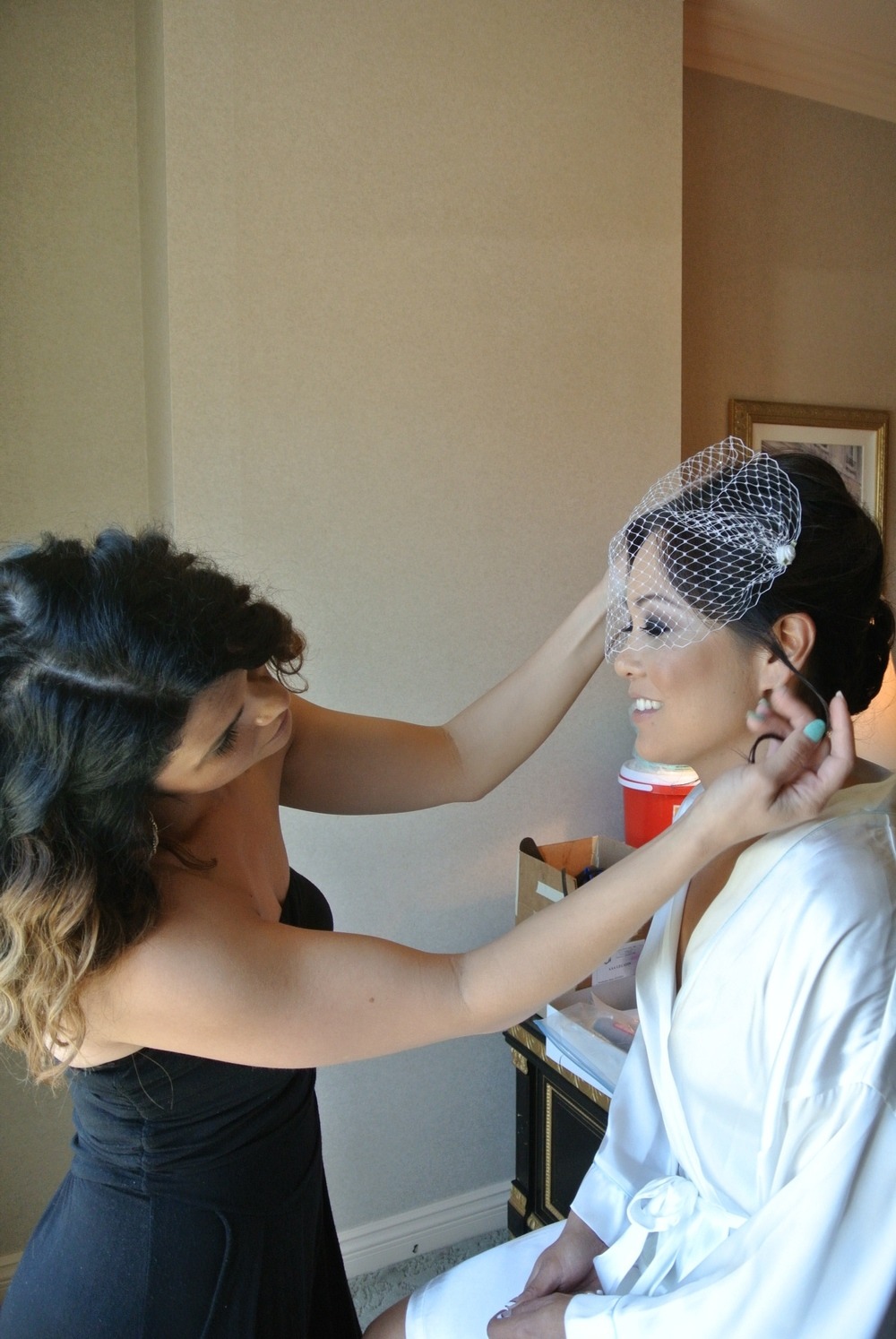Bridal Beauty by  Your Beauty Call .  Photo by Las Vegas Wedding Planner Andrea Eppolito.