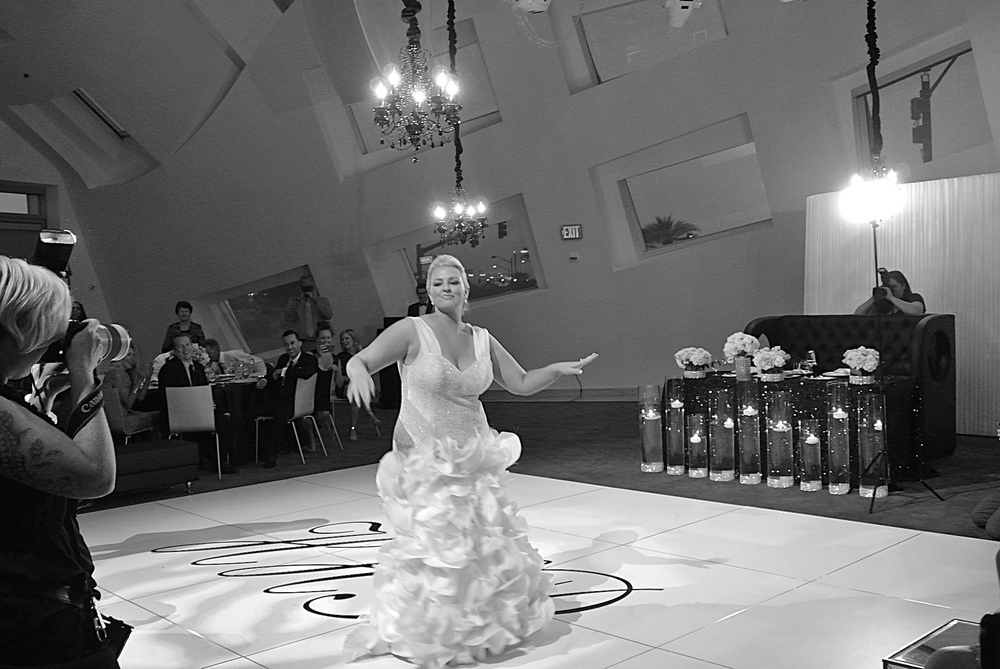 Our bride played to the camera while dancing to Mirrors by Justin Timberlake.