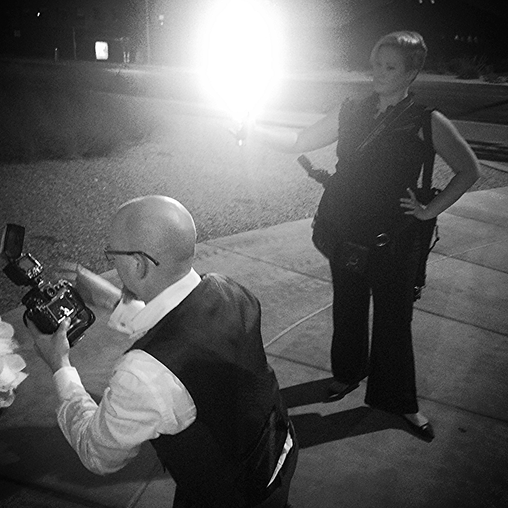 John behind the lens and Dalisa on lights.