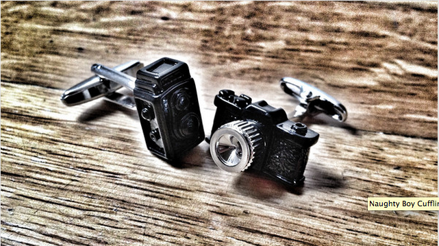 For the lover or film.  Cufflinks by Unicuffs.