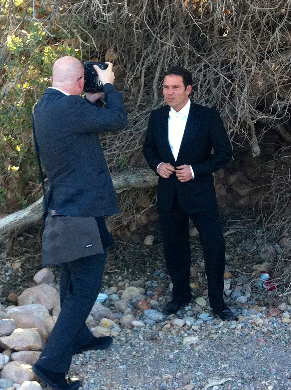 Las Vegas Wedding Photographer and all over artist John Michael Cooper of Altf Photography shooting groom turned friend David on the day of his wedding.  From the wedding of Celia & David Schaffer.