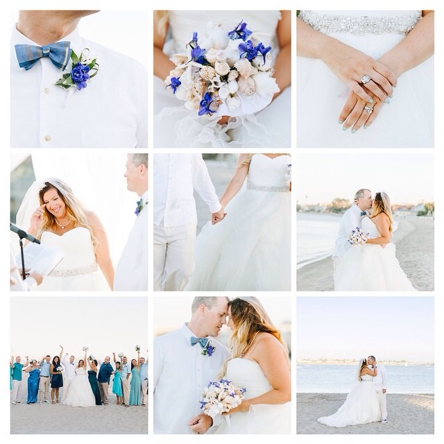 Thank you Burlap & Blossom Photography for putting together this preview of Amanda & Phillip's beachside San Diego Wedding.