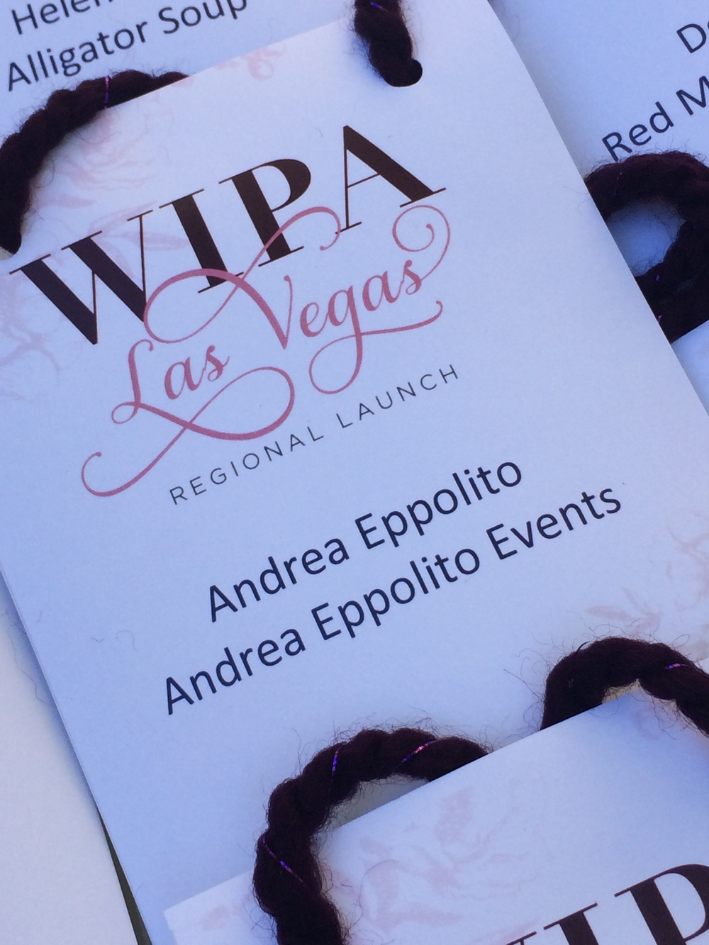 My first WIPA Las vegas Badge!