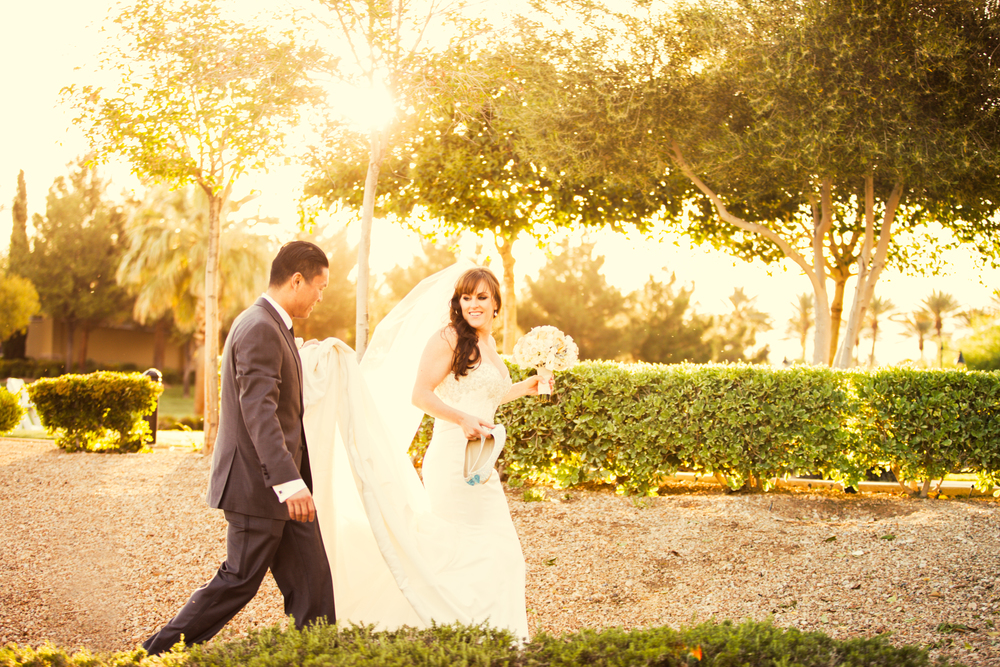 This photo of everything!  The sunlight, the veil....All of it!  Perfection! Las Vegas Wedding at Siena Golf Club  |  Photography by Ella Gagiano  | Floral and Decor by Naakiti Floral  |  Las Wedding Planner Andrea Eppolito