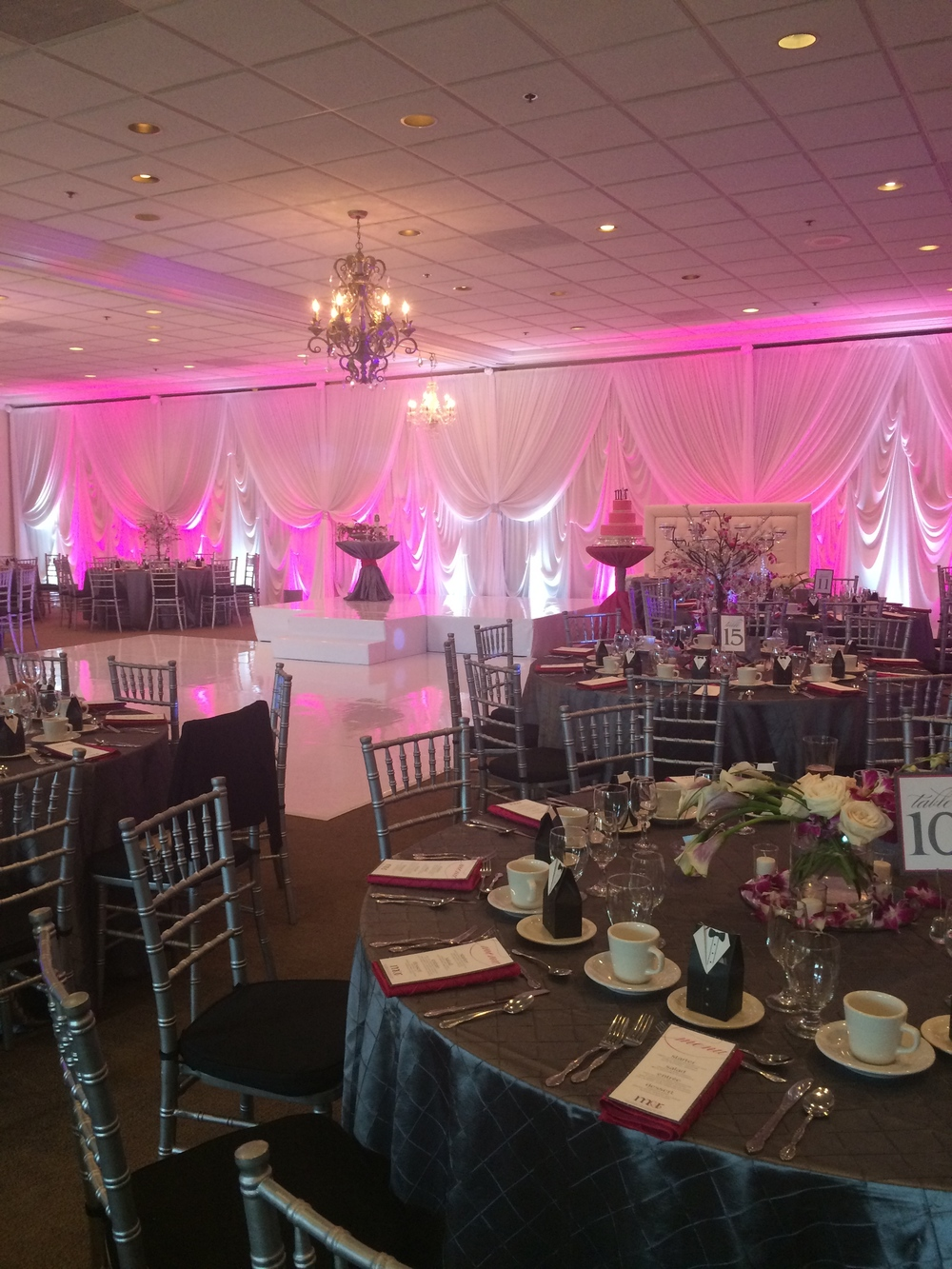 Oak Lawn Country Club was transformed to the groom's exact specifications!   Destination Wedding Planner Chicago & Las Veags: Andrea Eppolito |  Rentals and Decor: EEL  |  Floral: Michell's Orland Park