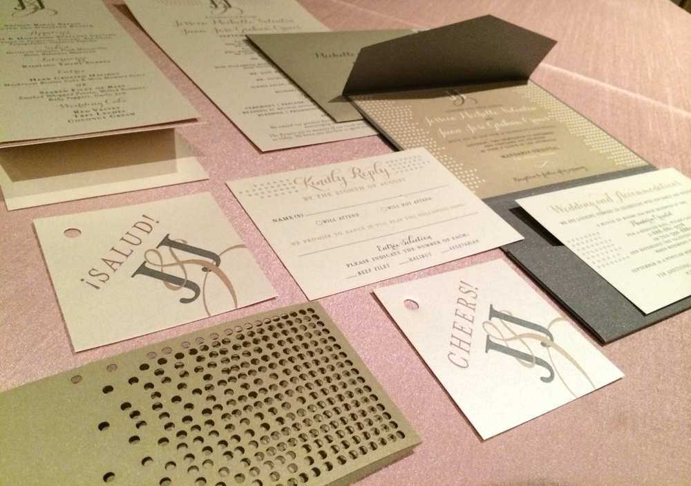 A look at the full stationary suite designed and produced by LasVegas'  Paper & Home .