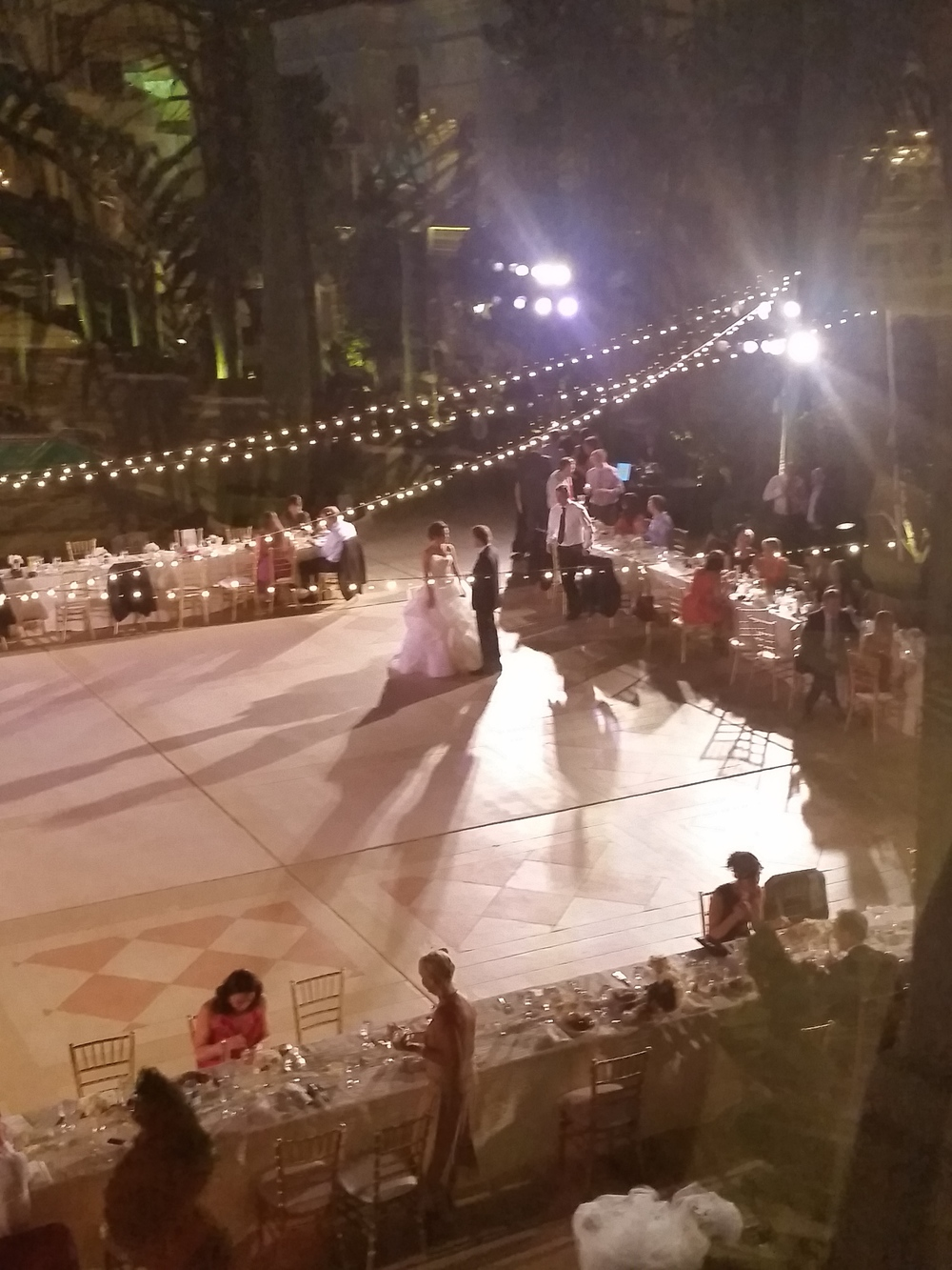 During the night, I snuck upstairs to grab a quick photo from one of the windows.   Las Vegas Wedding Planner Andrea Eppolito  |  Wedding at Bellagio Las Vegas