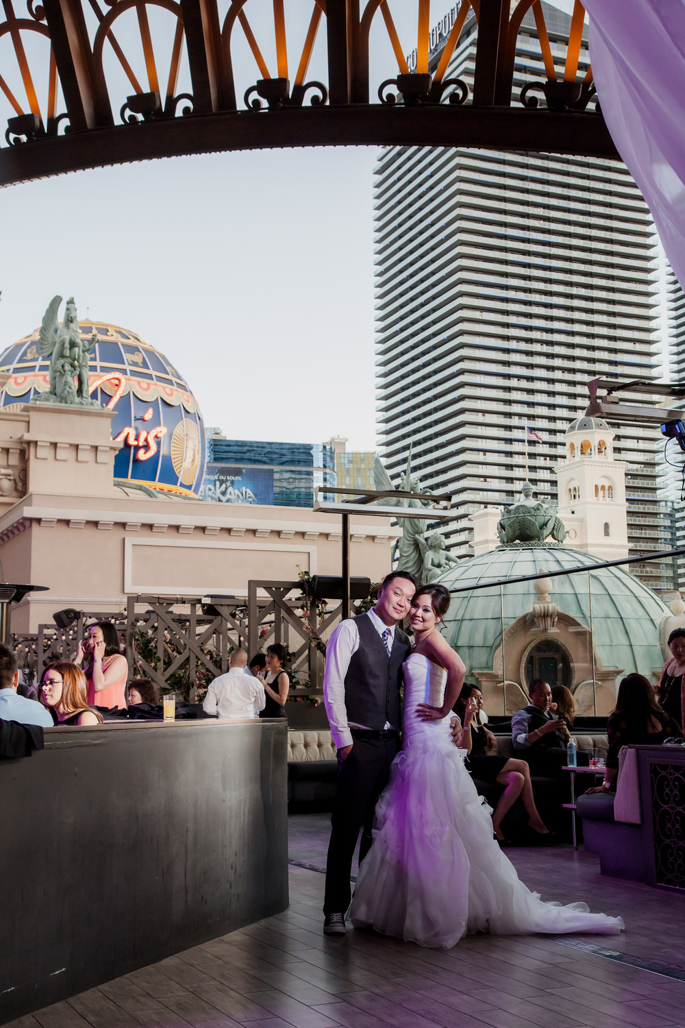 Alice & Jimmy at their Las Vegas Wedding at Chateau Nightclub & Gardens.