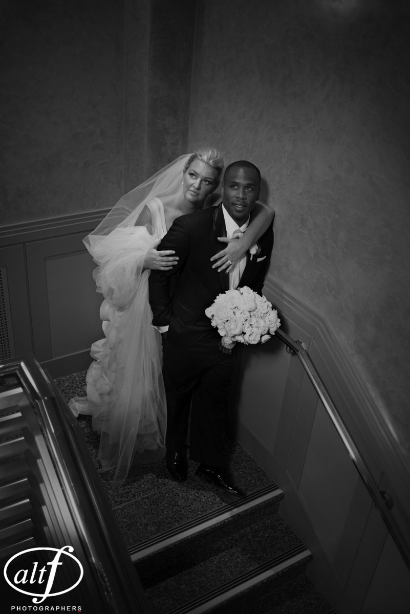Black and White Bridal Portraits by Alt F for High Fashion Wedding Photos in Las Vegas.