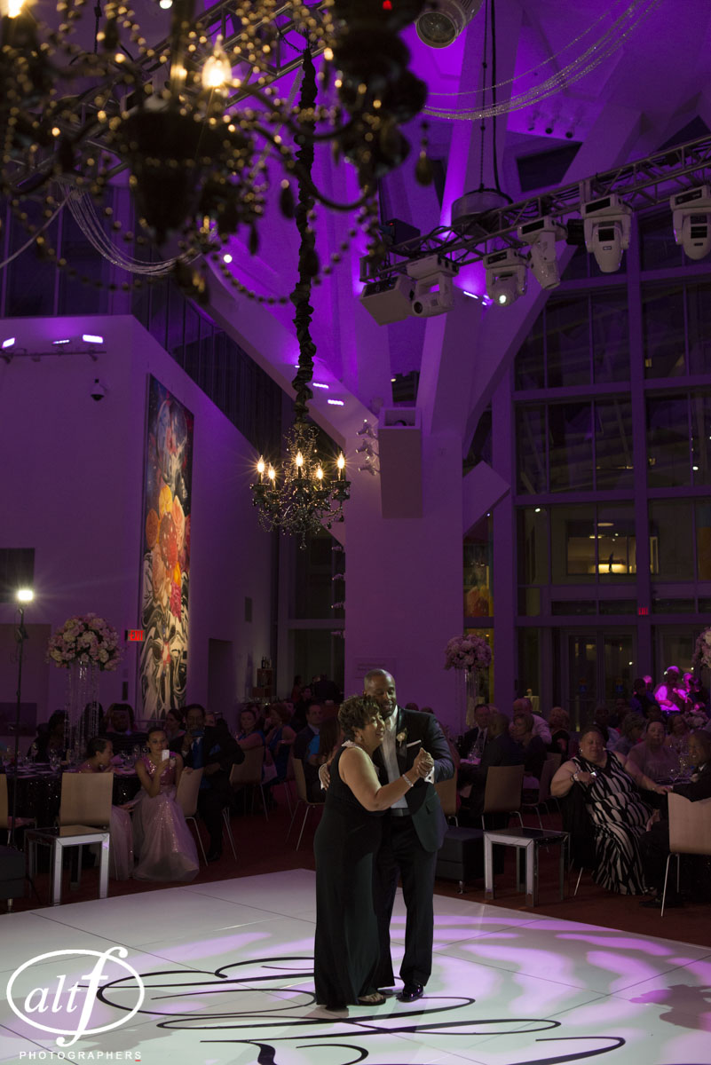 Mother Son Dance in Las Vegas.  Wedding Designed by Luxury Las Vegas Wedding Planner Andrea Eppolito.